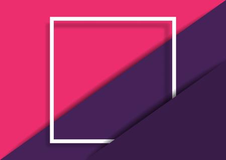 Abstraktes modisches Papier schnitt Hintergrund und Rahmen des weißen Quadrats. Standard-Bild - 86474785