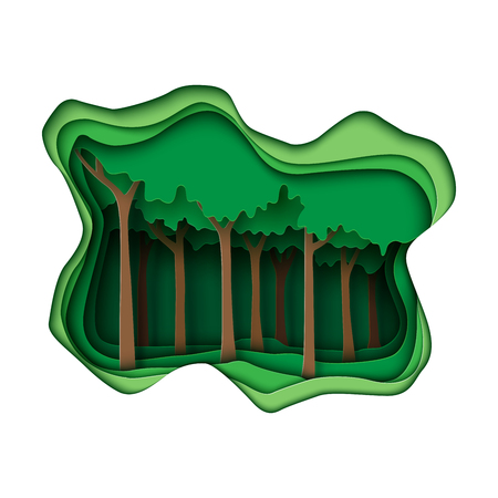 Green abstract forest creative idea concept.