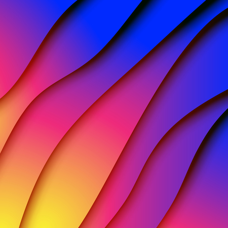 Colorful gradient paper cut abstract background.For business banner template and material design.Vector illustration.