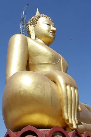 Gold budha image photo
