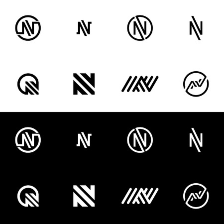 Ikona Logo litery N. Alfabet Logo Design Streszczenie