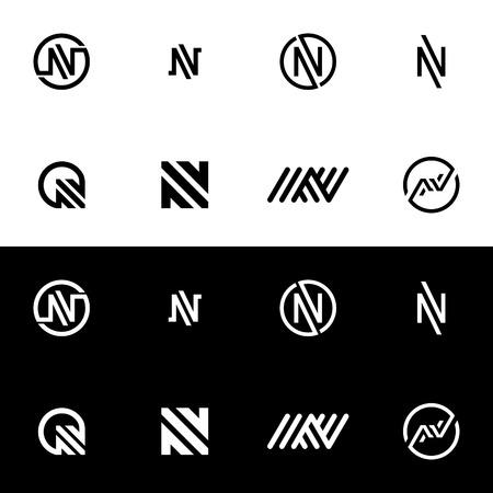 Letter N Logo Icon. Alphabet Logo Design Abstract