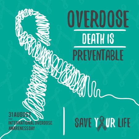 International Overdose Awareness Day. Abstract design background illustration