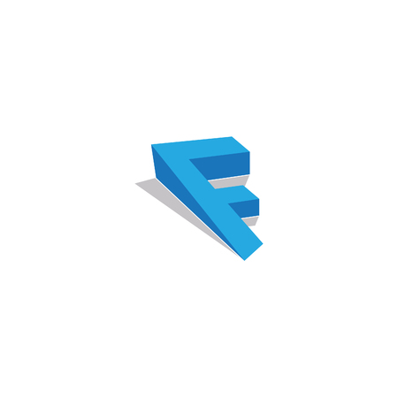 Letter F logo concept design with a shadow. Letter company 3d vector icons such logo. This is a logo for a small company. Vector illustration EPS.8 EPS.10