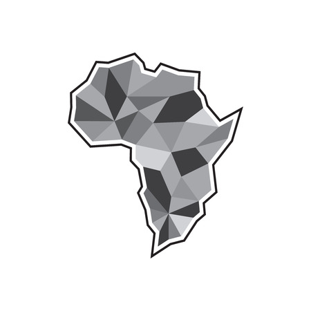 Creative african map icon.