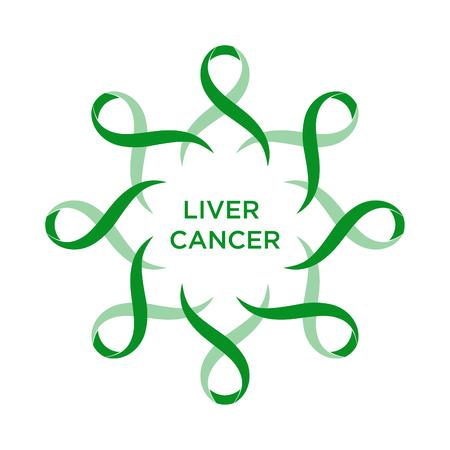 Cancer ribbon emerald color representing the support of tackling cancers.
