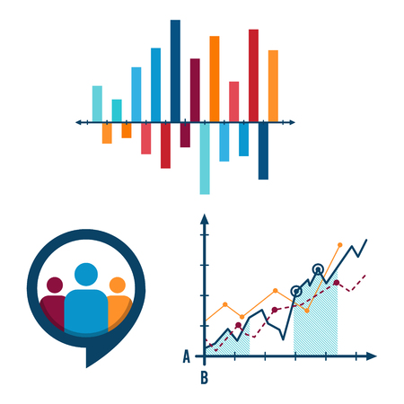 Data infographic chart timeline and steps icon. Creative business elements graph elements. Illustration