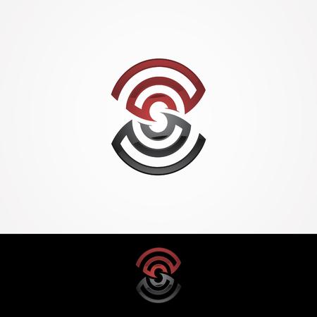 Letter S icon design template elements. Letter S with a signal-shaped roundabout. Business corporate letter S icon  design vector. Vector illustration. Ilustração