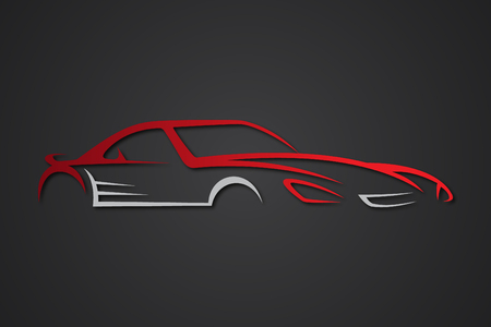 Creative vector elegant car emblems for your business. Logo design template for car sport. Vector illustration EPS.8 EPS.10