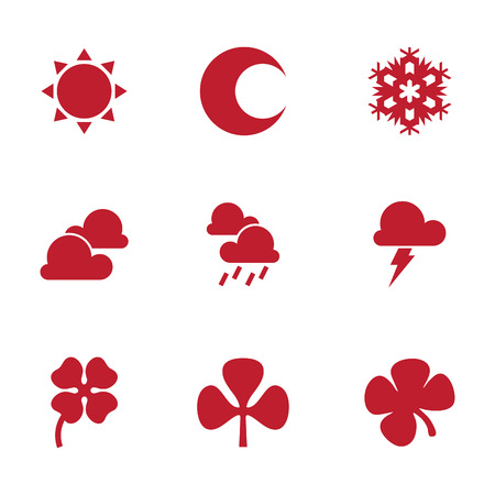 Flat design vector weather icons design elements. Color flat icon style. Vector illustration EPS.8 EPS.10