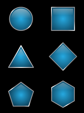 Set of some variation shaped button on the black background. Some variation button concept design. Vector illustration EPS.8 EPS.10