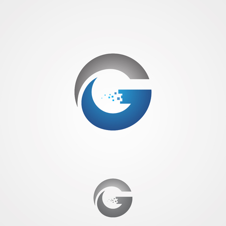 Simple G letter for technology design vector for web or mobile APP icon. Creative Letter G concept design