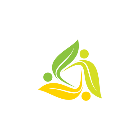 Simple, colorful leaf for nature vector icon. Modern ecology graphic creative template. Vector illustration EPS.8 EPS.10