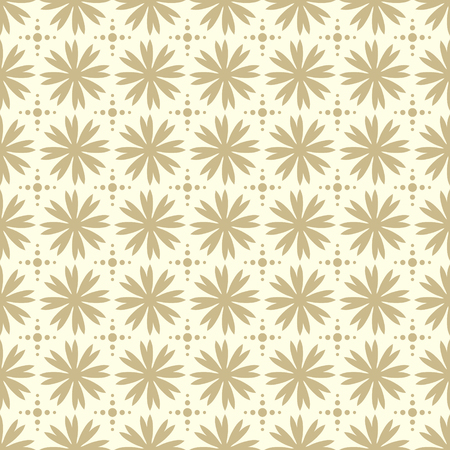 Geometrical oriental ornament repeating seamless pattern for background or wallpaper. Feminine vector color background.