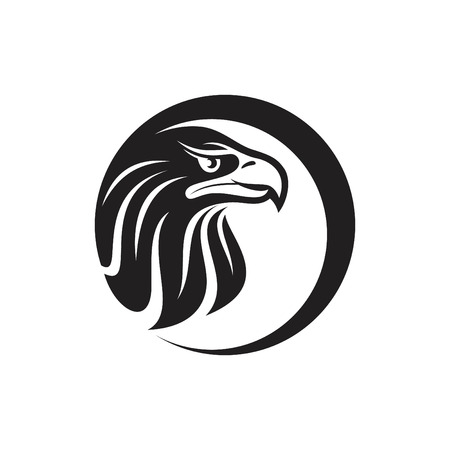 Silhouette design of head Eagle for your business symbol. Vector graphics to design.