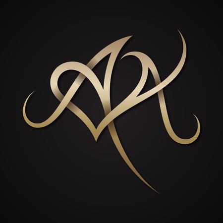 Creative luxury letter AA shaped love design vector symbol. Luxury letter for your business company. Vector illustration EPS.8 EPS.10