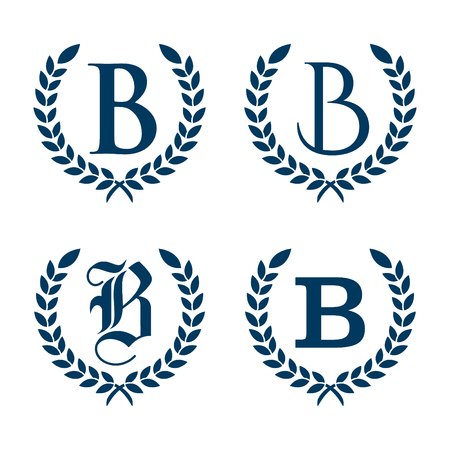 Simple flat graphic letter B for your business symbol. Flat design symbol vector. Vector illustration EPS.8 EPS.10 Vector Illustration