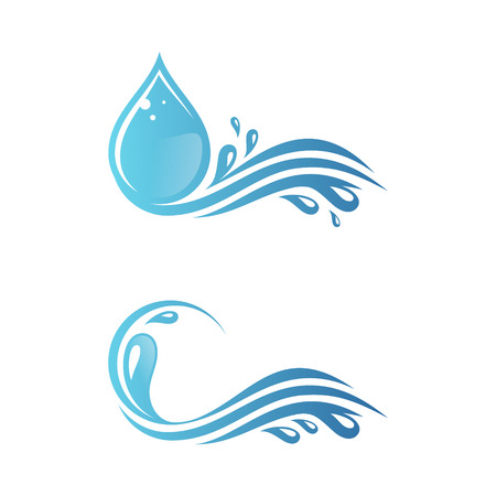 Set of blue water splash with droplet for your best business symbol. Vector water splash. Vector illustration EPS.8 EPS.10