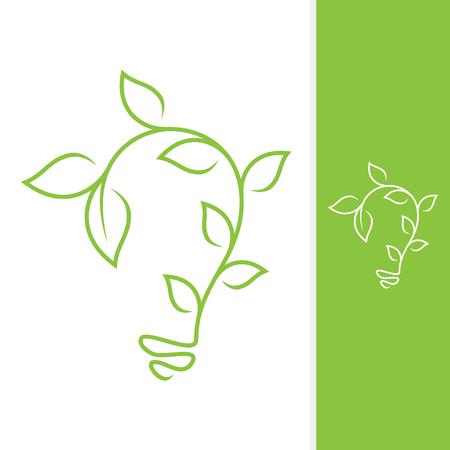 Growth leaf design vector shaped bulb for element design. Vector concept design ecology. Vector illustration EPS.8 EPS.10