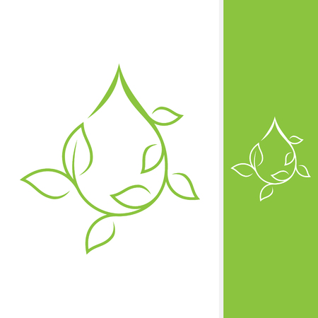 Growth leaf design vector shaped droplet for element design. Vector concept design ecology. Vector illustration EPS.8 EPS.10