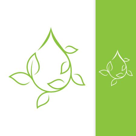 Growth leaf design vector shaped droplet for element design. Vector concept design ecology. Vector illustration EPS.8 EPS.10
