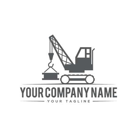 Illustration design building crane symbol. Industrial company vector concept design. Vector illustration EPS.8 EPS.10
