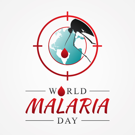 World malaria day with graphic target mosquito. International holiday concept design vector. Vector illustration EPS.8 EPS.10