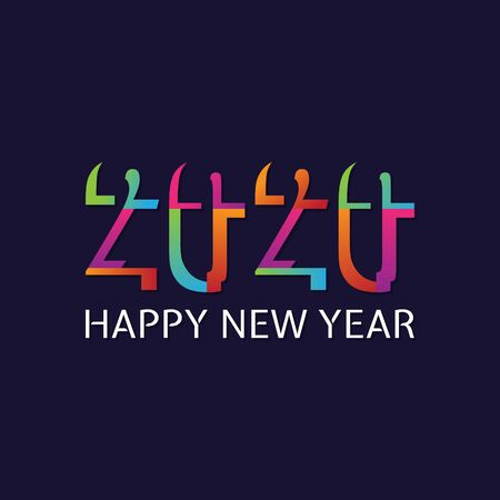 2020 Happy  New Year insta color banner. 2020 design greetings, invitations and banner or background. Vector illustration EPS.8 EPS.10 Ilustrace