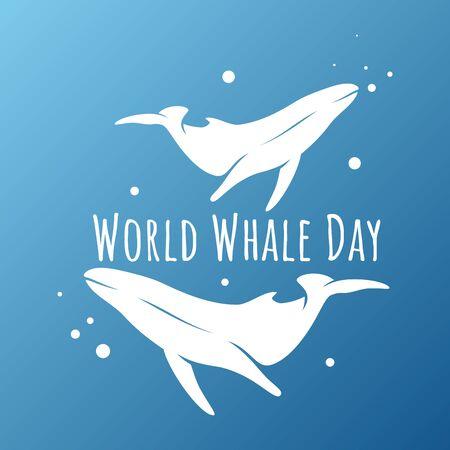 Vector design whale for world whales day sign symbol. Vector design background for element design. Vector illustration EPS.8 EPS.10