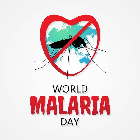 Malaria Day vector letter for element design. International  concept design vector. Vector illustration .8 . Vettoriali