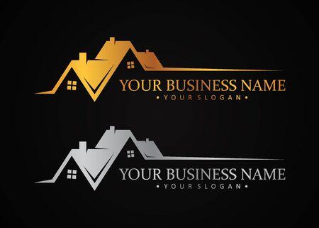 Luxury design symbol for real estate company or agency. Luxury design symbol for your best business company. Vector illustration .