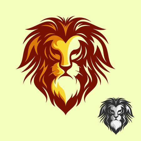 Luxury design lion head vector symbol. Collection of colorful lion head. Vector illustration EPS.8 EPS.10