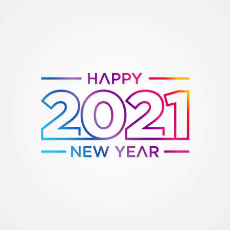 Creative concept of 2021 Happy New Year slice style. Design templates with typography 2021 for celebration and season decoration. Stok Fotoğraf - 159450892