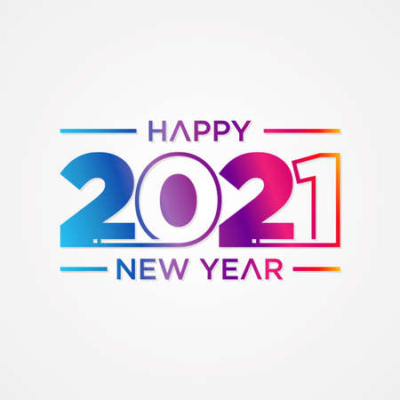 Creative concept of 2021 Happy New Year slice style. Design templates with typography 2021 for celebration and season decoration. Stok Fotoğraf - 159451673