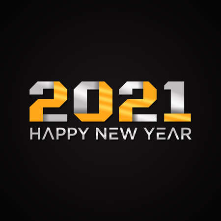 2021 Happy New Year text design. 2021 number design template. Collection of 2021 Happy New Year
