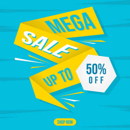 Big sale discount advertisement banner. Vector illustration EPS.8 EPS.10