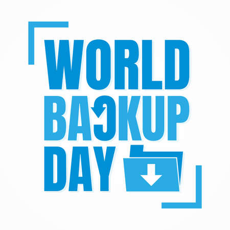 Typography for World Backup Day folder arrow. Letter World Backup Day for element design. Vector illustration