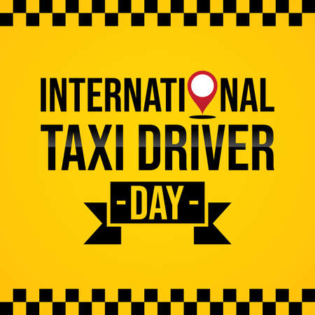 International Taxi Driver Day template design. March holiday calendar. Vector illustration