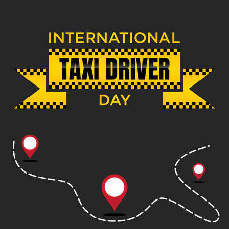 International Taxi Driver Day template design for element design. March holiday calendar. Vector illustration Vectores
