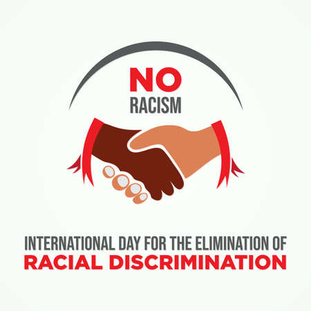 International Day for the Elimination of Racial Discrimination. Equality concept campaign conceptual idea vector poster. Vector illustration Vectores