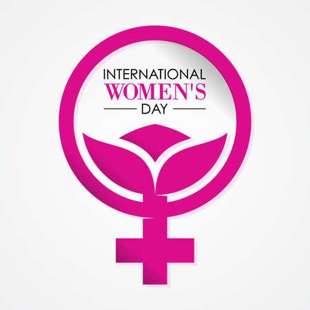 International Womens Day letter on the white background. Vector illustration