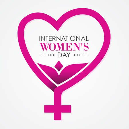 International Women's Day letter for element design. Vector illustration
