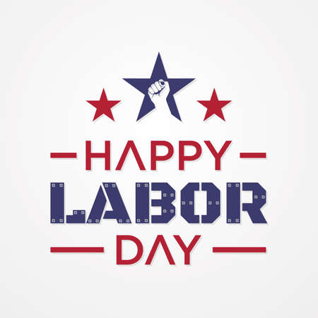 Happy Labor Day letter for element design. Vector illustration Vectores