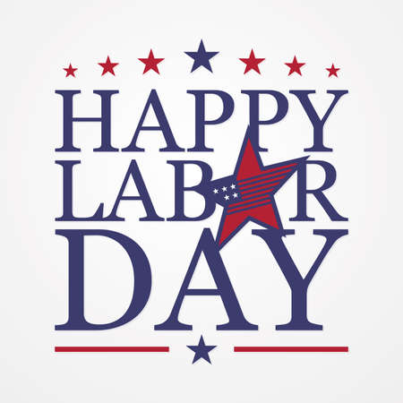 Happy Labor Day letter for element design on the white background. Vector illustration