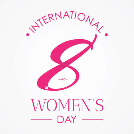 Eight design for International women's day on the white background. Vector illustration Vectores