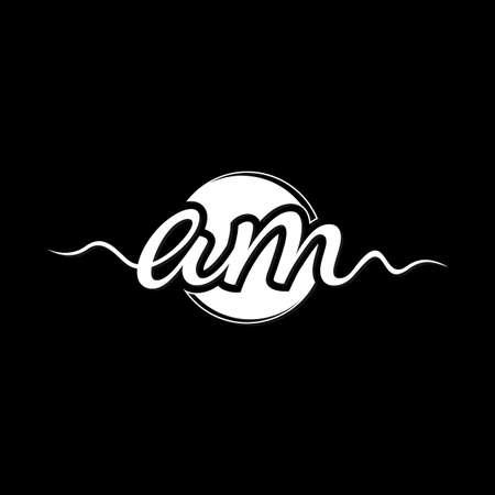 Initial AM letter symbol design vector. Creative luxury letter AM design. Vector illustration