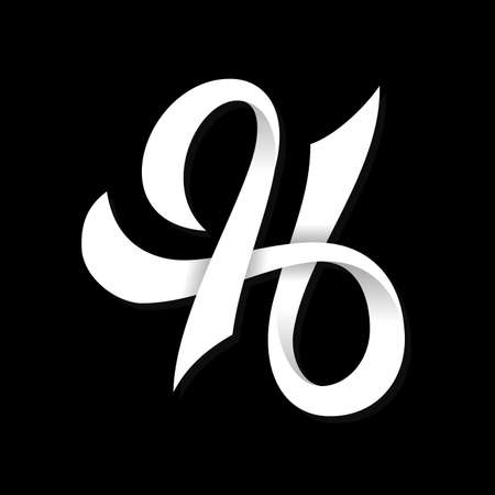 Typography letter H symbol design vector. Creative luxury letter H design. Vector illustration