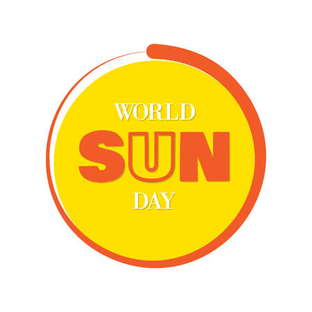 Simple letter design World Sun Day for background or greeting card. Letter World Sun Day on the white background. Vector illustration EPS.8 EPS.10