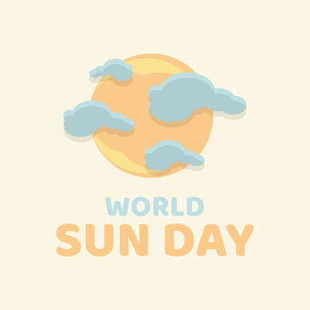 Colorful design letter World Sun Day for background or greeting card. Vector illustration