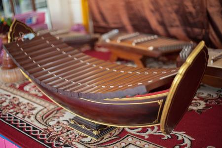 thai musical instrument: Ranad, Thai  xylophone Stock Photo